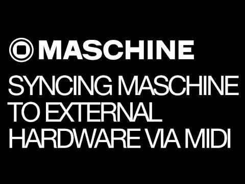 NI Maschine - Syncing Maschine to External Hardware via MIDI - How To Tutorial