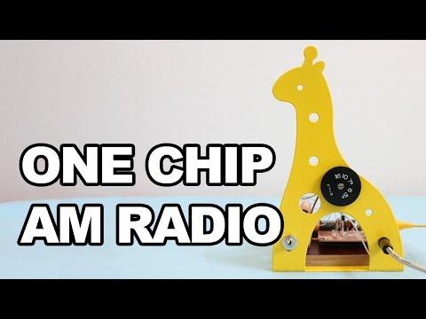 ONE CHIP AM RADIO Using Dollar Store Items - TA7642 (UTC7642) - YouTube