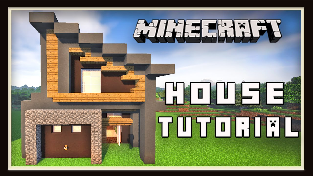 Modern Architecture House Minecraft minecraft: how to build a small modern house (part 1 layout and