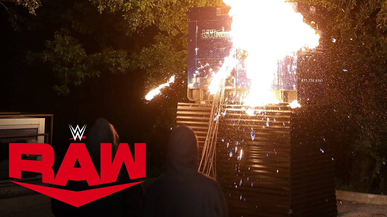 Mystery group sets generator on fire: Raw, Aug. 3, 2020