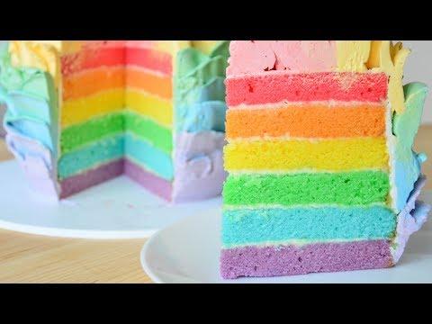 Как приготовить разноцветный торт
