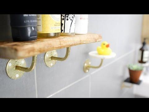 How to make DIY bathroom shelves with Sugru - YouTube