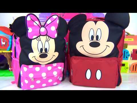 Thumbnail: Disney Jr. MICKEY MINNIE MOUSE Roadster Racers Back to School First Day Bagpack Toy Surprise / TUYC