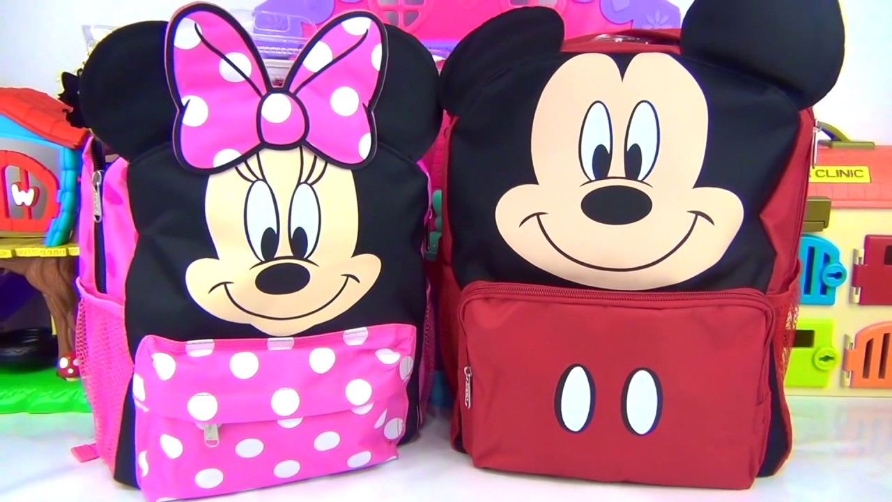 62c6b68c9b3 MICKEY   MINNIE MOUSE Roadster Racers Back to School Backpacks - YouTube