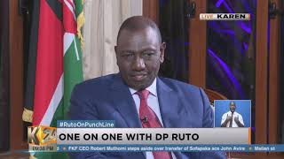 DP William Ruto Trades Punches With Anne Kiguta  On #PunchLine