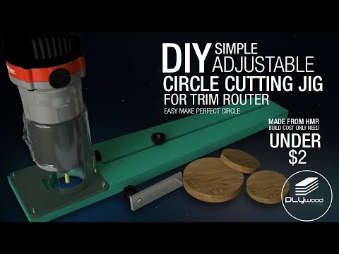 Diy Simple Adjustable Circle Cutting Jig For Trim Router - Trimmer Jig