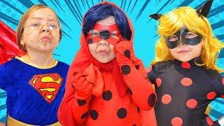 СУПЕРГЕРОИ в старости: Внучка ЛЕДИ БАГ. Старушка Супергерл и Чудо Женщина