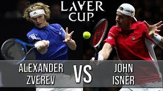 Alexander Zverev Vs John Isner - Laver Cup 2018 (Highlights HD)