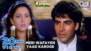 Meri Wafayen Yaad Karoge - Video Song | Sainik | Akshay Kumar & Ashwini Bhave | Asha Bhosle