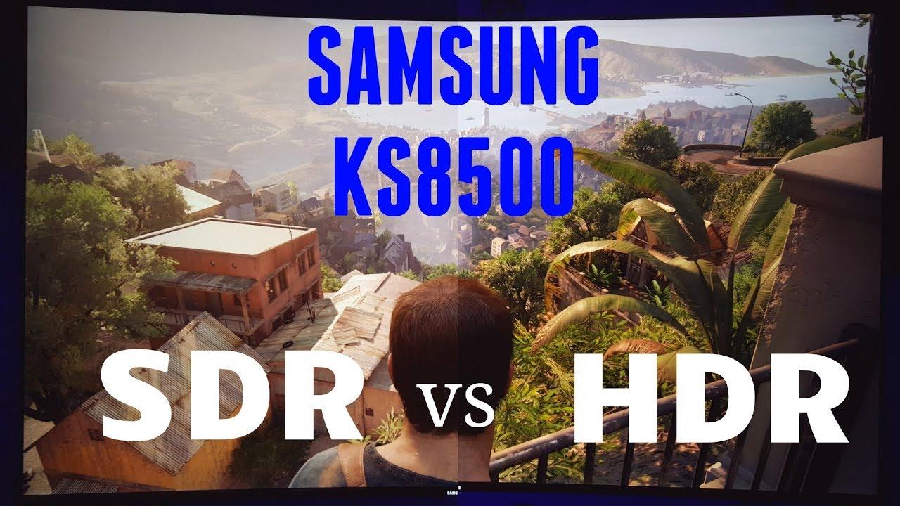 Pubg Hdr Vs No Hdr: HDR Vs SDR Uncharted 4 Samsung KS8500 Vs TCL P Series