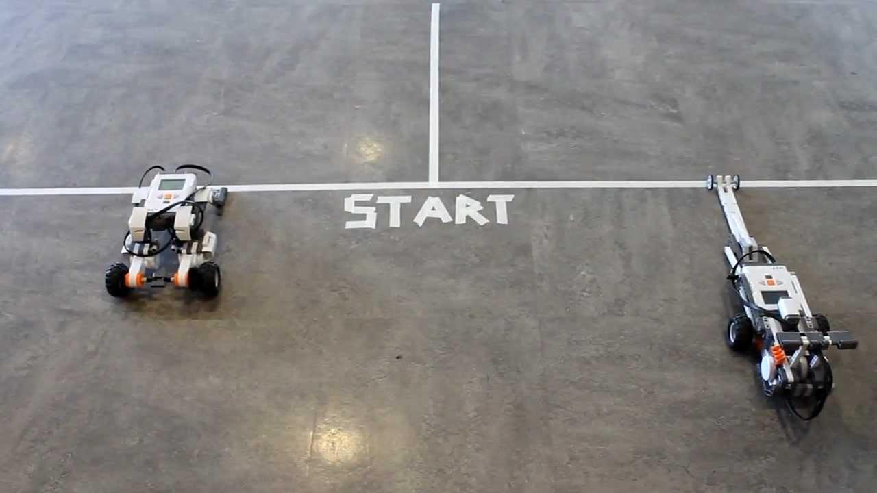 Lego Mindstorm Drag Race Youtube