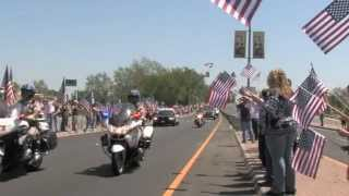 Flag Line in Yuba City, CA for Army Spc. Chase Marta
