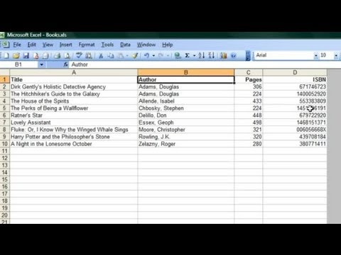 how to use microsoft excel to catalogue books microsoft office