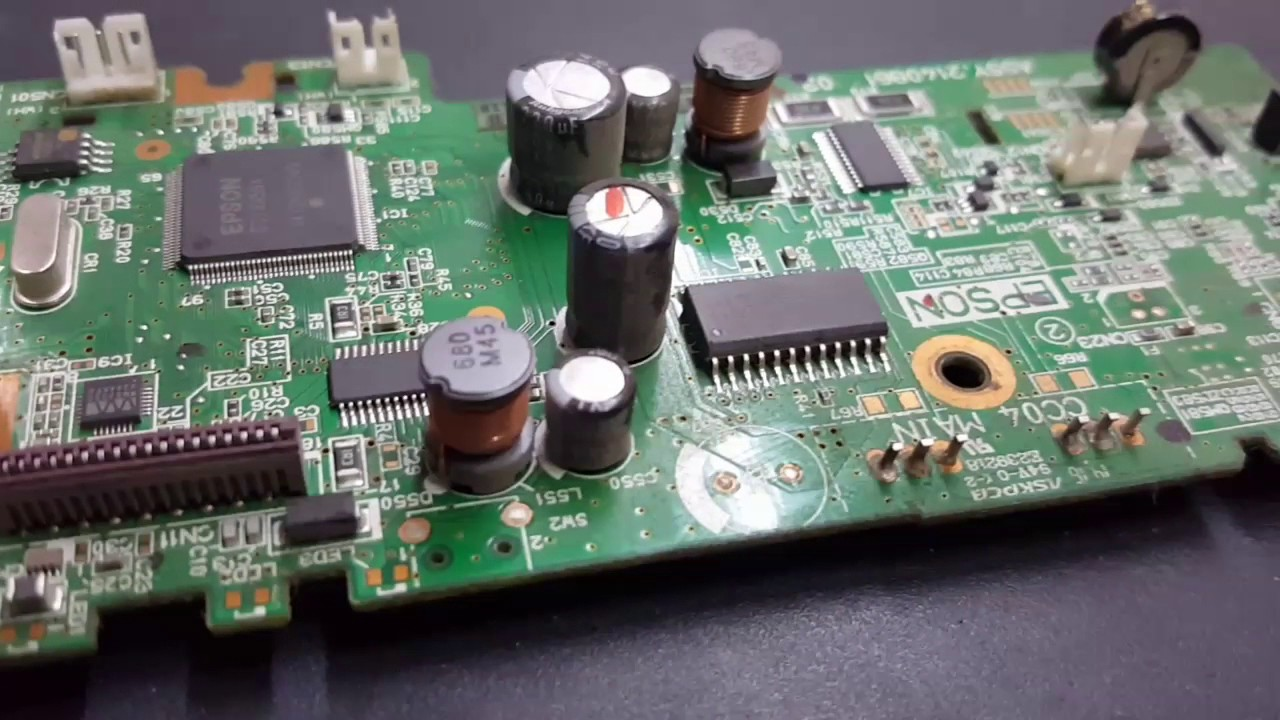 epson l210 l220 l360 and l380 motherboard detail view