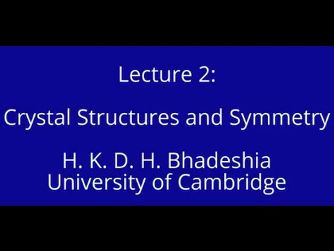 Crystal Structures and Symmetry (2015)