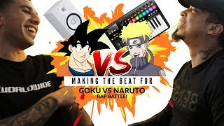 Making SSJ9k Goku vs. Naruto Rap Battle! DBZ Parody Beat