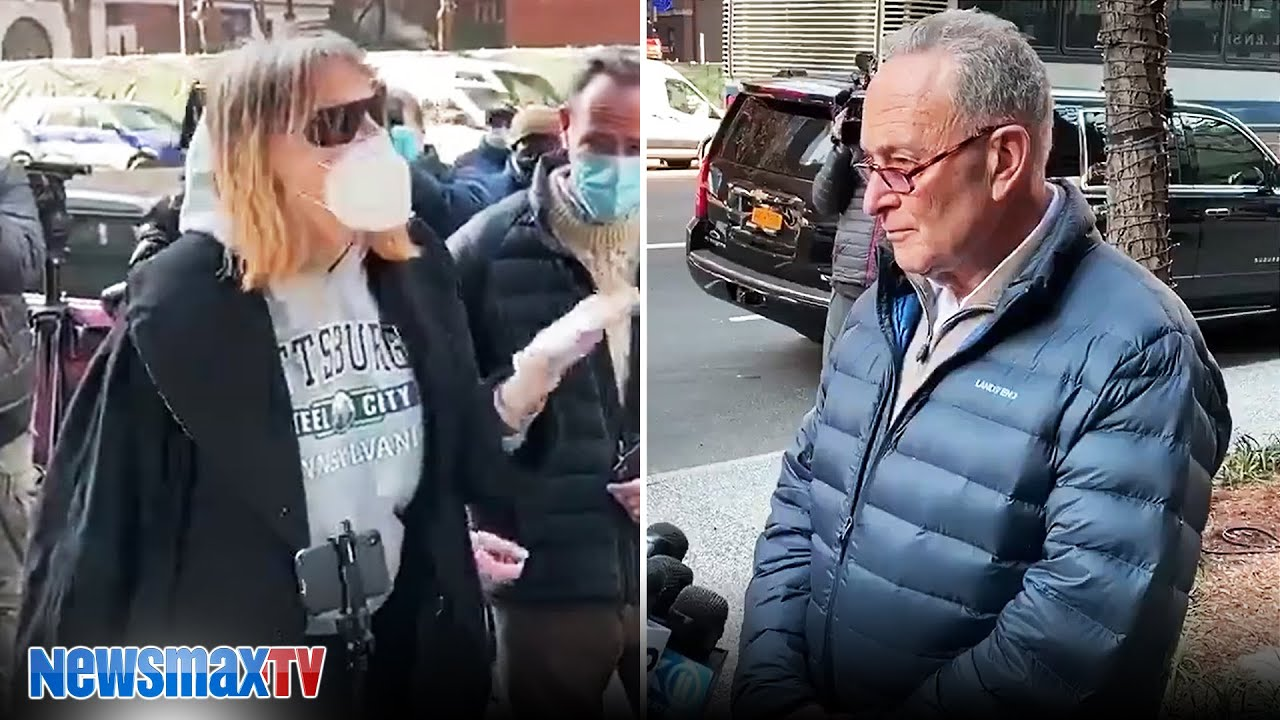 Woman berates Chuck Schumer during NYC presser | EXCLUSIVE VIDEO