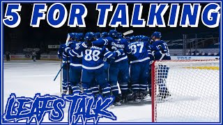 WHAT SHOULD THE TORONTO MAPLE LEAFS DO GOING FORWARD | 5 FOR TALKING NHL HOCKEY PODCAST LEAFS NATION