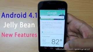 Android  4.1 Jelly Bean update & New features