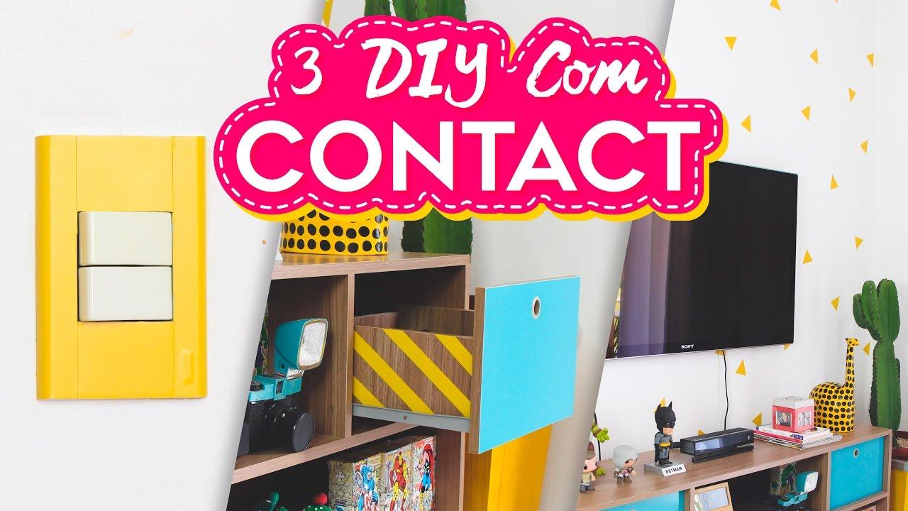 3 diy decora o com contact decora o f cil e barata para casa do sof youtube - Casa facil picassent ...