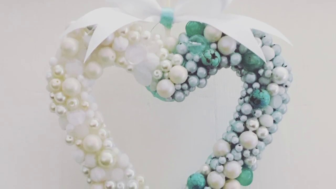 How to make: Hanging heart | DIY room decor ideas| Wedding decor ...