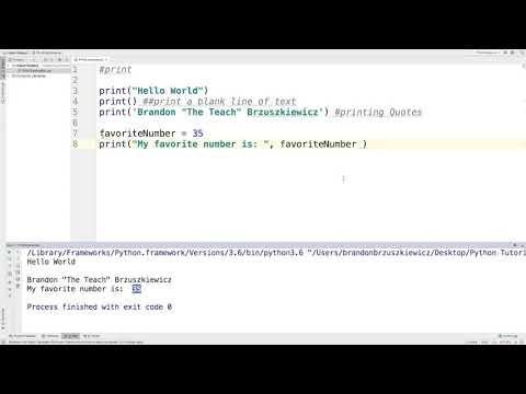 Python Tutorial 1: Print Function thumbnail