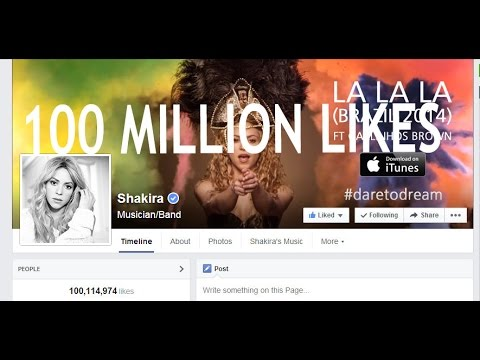 Shakira hits 100 Million Facebook Fans -World Record-