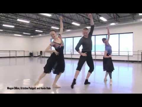 Artists of Colorado Ballet rehearse Spanish dance from Act II of The Nutcracker