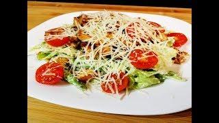 """Салат """"Цезарь"""" с курицей!! (простой рецепт из доступных продуктов)!!!"""