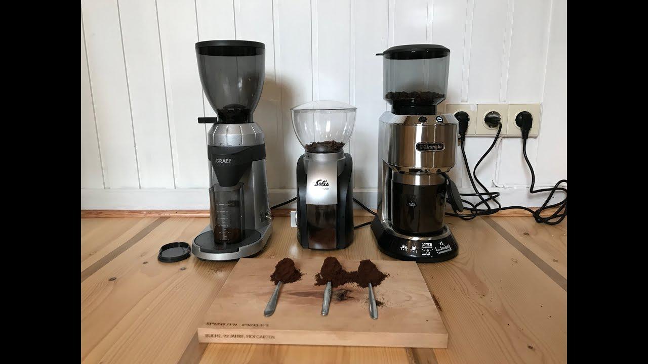 Test Welche Kaffeemuhle Mahlt Am Feinsten Graef Cm 800 Delonghi