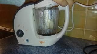 Tigex Cuiseur Mixeur Bébé Gourmet,  Facile d'utilisation et de nettoyage   double panier vapeur