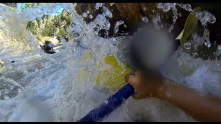 kayaking lower clear creek co goal post to golden low water about 125 cfs