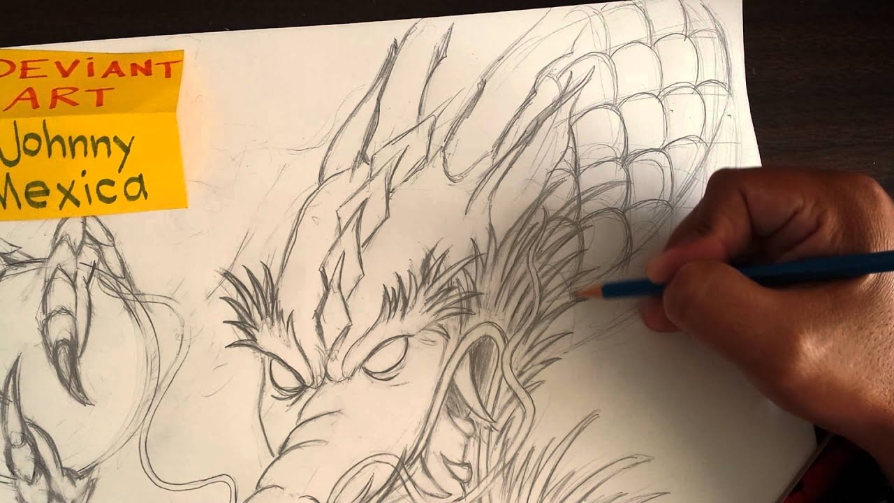 drawing tutorial japanese dragons body and arm art youtube