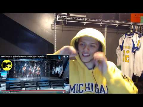 LITT | REACTION | Fifth Harmony Ft. Gucci Mane Perform 'Down' & 'Angel' : VMAs 2017