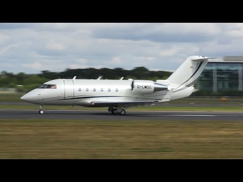 Canadair CL-600-2A12 Challenger 601 departure at Farnborough