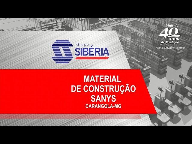 Projeto 3D - Sanys Material de Construção - Carangola/MG