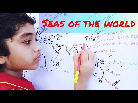 Seas in the world | World Geography for all competitive exams