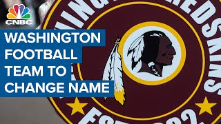 Washington NFL team 'Redskins' announces name change for 2020 season