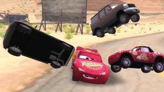 Disney Pixars Cars Movie Game   Crash Mcqueen 193   Greeting Mia Backwards