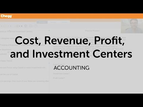 Cost Revenue Profit And Investment Centers | Accounting | Chegg Tutors