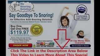 medicine to stop snoring | Say Goodbye To Snoring