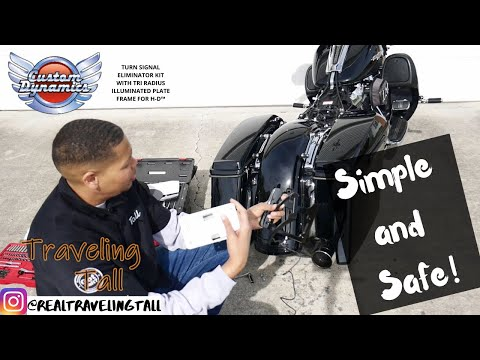 TURN SIGNAL ELIMINATOR KIT WITH TRI RADIUS ILLUMINATED PLATE FRAME FOR H-D™