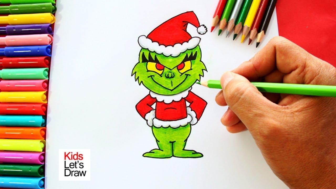 Cómo dibujar un GRINCH de Navidad de manera fácil | How to Draw The ...