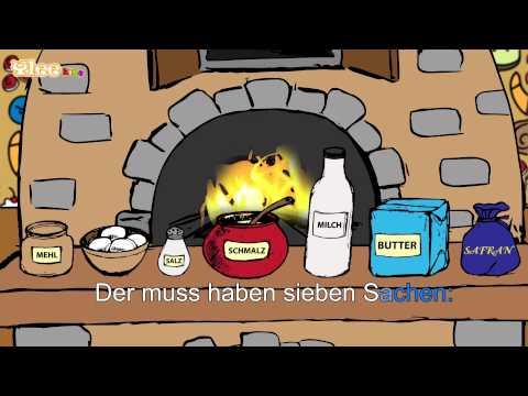 Backe, backe Kuchen - Karaoke Version (Sing Allein) in Deutscher Sprache mit Text am Monitor