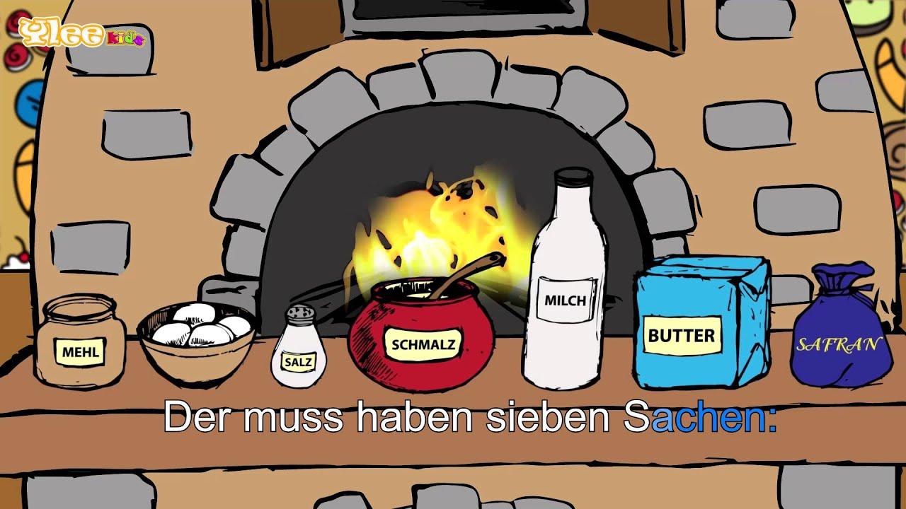 backe backe kuchen karaoke version sing allein in deutscher sprache mit text am monitor. Black Bedroom Furniture Sets. Home Design Ideas