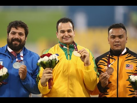 Men's shot put F20 | Victory Ceremony |  2015 IPC Athletics World Championships Doha