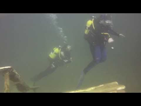 Scuba Diving at Capernwray 17th July 2013 Dive 2 - AOW Student & ROV