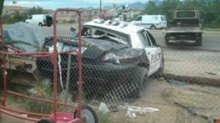 cop car crash wreck