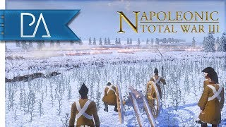 EPIC FROZEN RIVER CROSSING - Napoleonic: Total War 3 Mod Gameplay