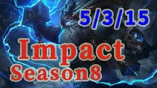 Team Liquid Impact Ornn TOP vs Malphite Patch 8.16